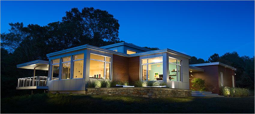 Newburyport, MA, ZNE home -- Steven Baczek, architect