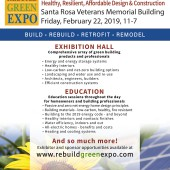 Rebuild Green Expo – February 22, Santa Rosa